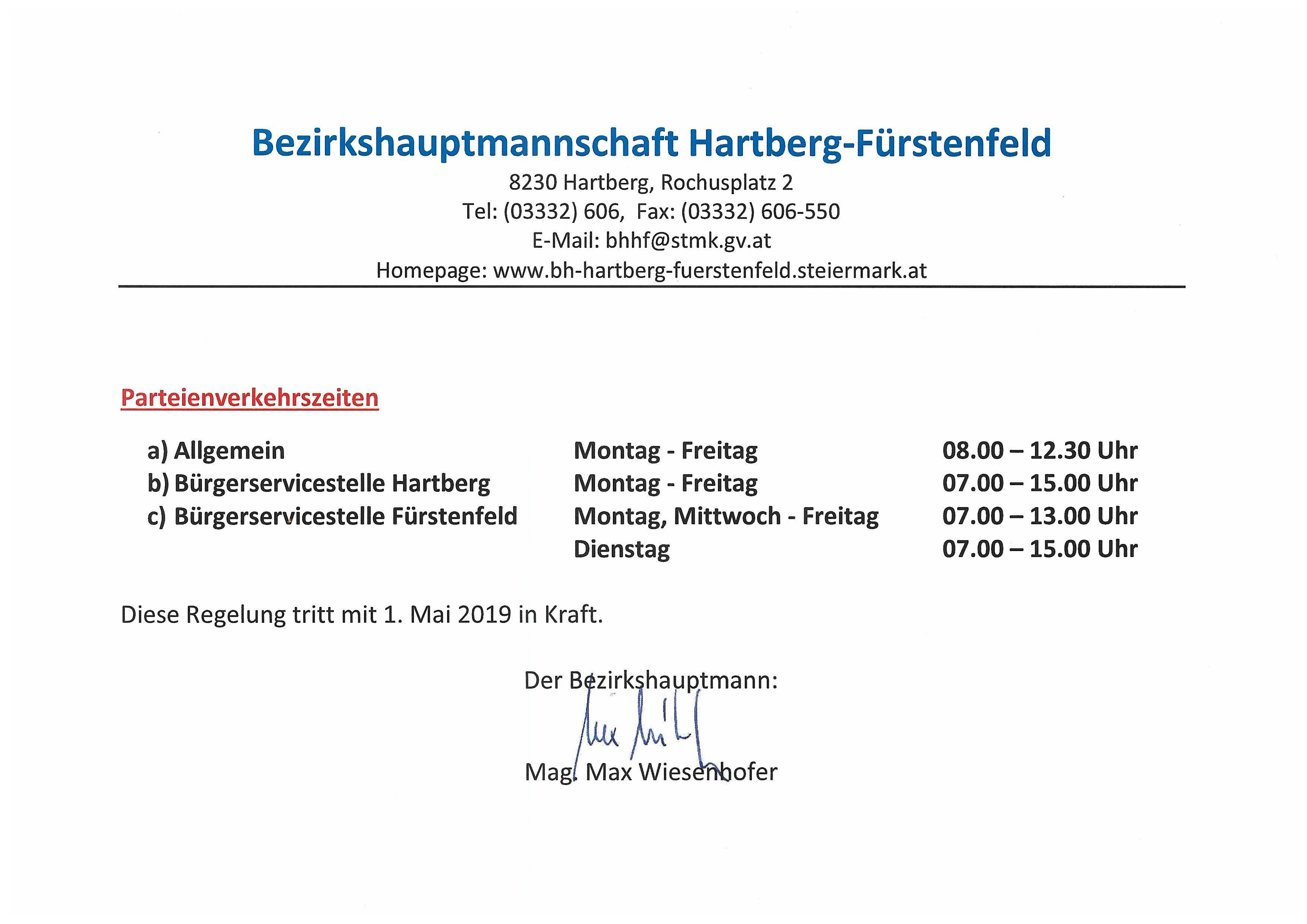 BH Hb Ff Oeffnungszeiten ab Mai 2019